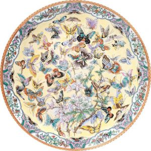 Round Jigsaw Puzzle of Butterflies