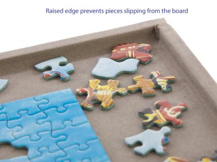 Jigsaw board - raised edge ensures no lost pieces