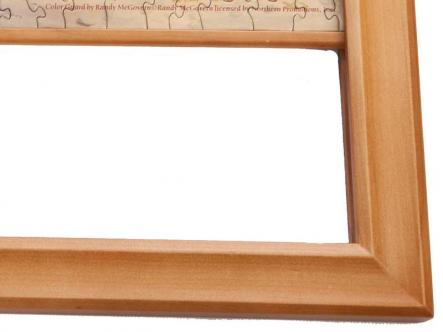 Jigsaw Wooden frame - hangs like a picture