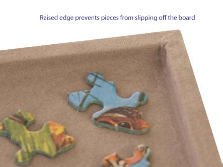 Puzzle board - raised edge ensures no lost pieces