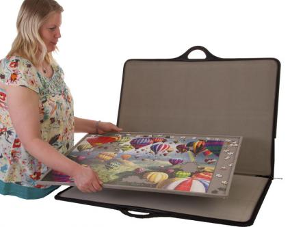 Jigsaw puzzle carrier - light removable board