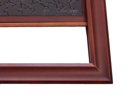 Jigsaw Puzzle Wooden frame - beautiful real wood