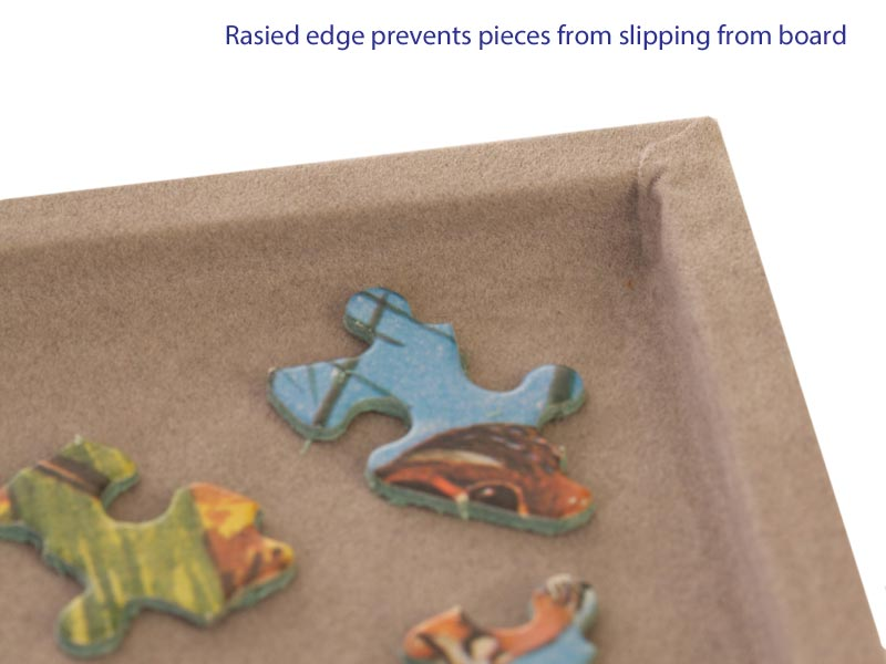 Jigsaw puzzle board - raised edge ensures no lost pieces