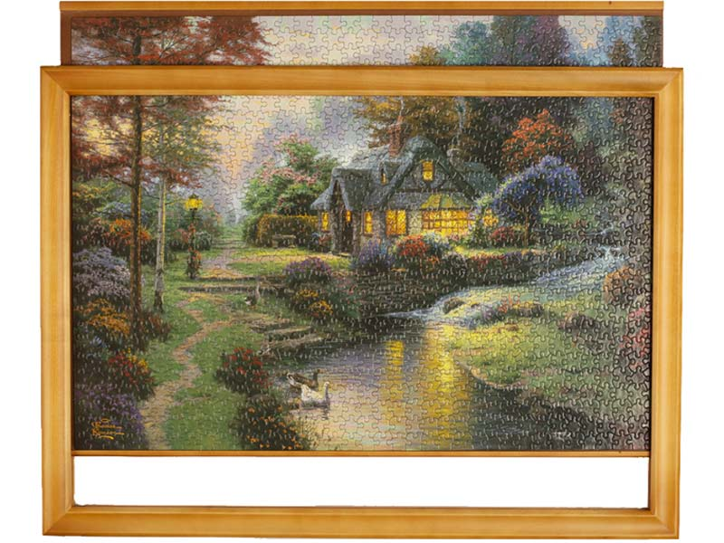 Jigsaw puzzle frame - troublefree framing