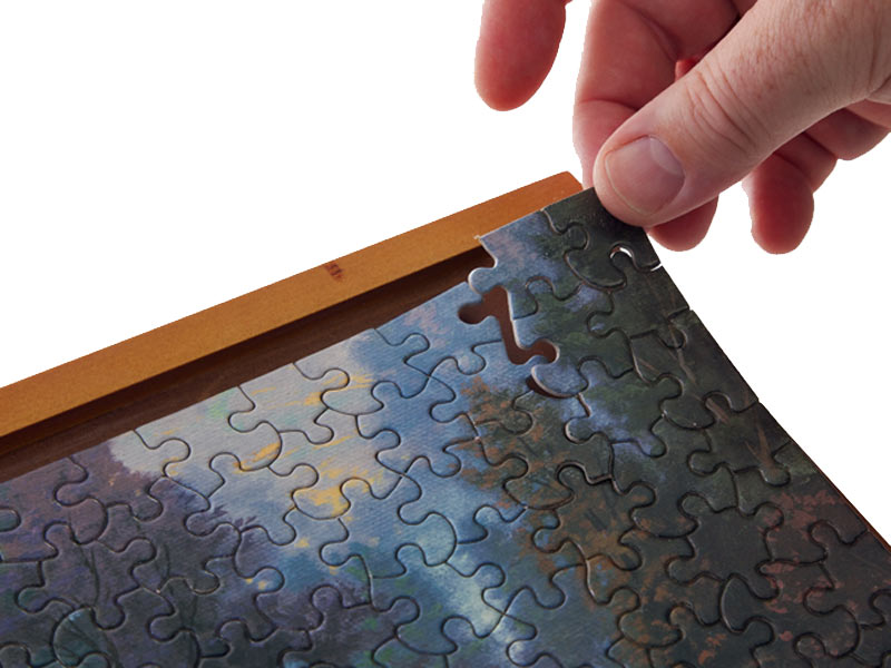 Jigsaw puzzle frame - no glue required