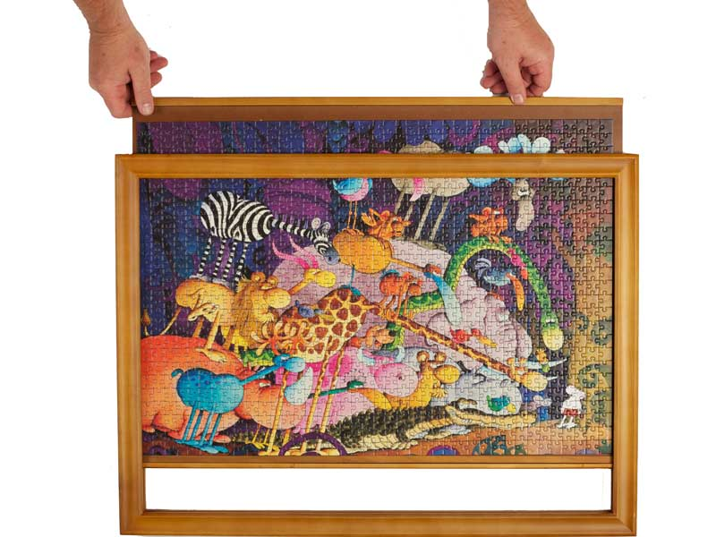 Jigframes Light Wood For Medium Size 1000 Piece Puzzles