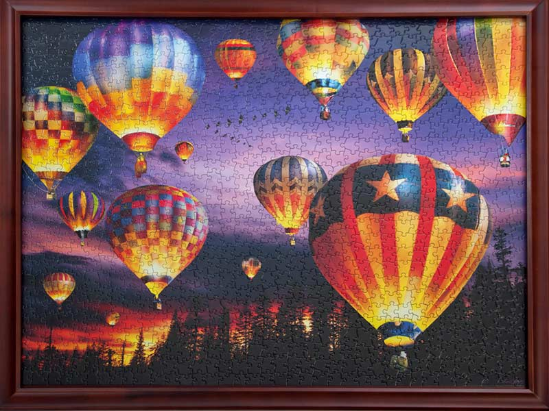 Wooden Jigsaw Puzzle Frames Light Wood For 1000 Piece