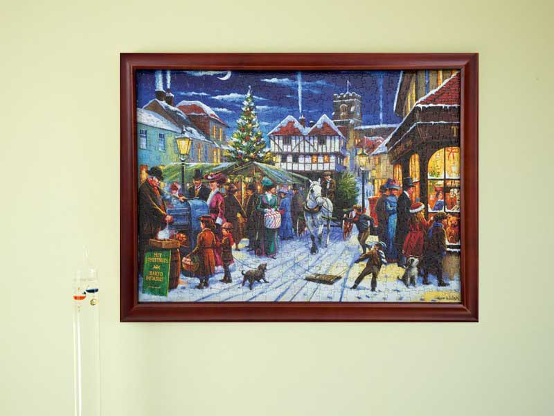 Jigsaw Frame Dark Wood Suitable For Large 500 Piece